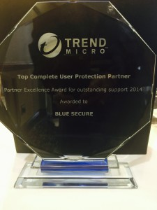 Blue Secure awarded Top Complete User Protection Partner 2014